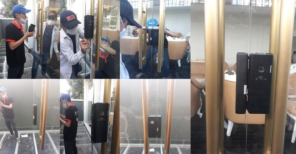 Công trình lắp đặt khóa vân tay Kaadas - Anh Quang - Nhà Bè